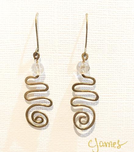Bronze Swirl Earrings