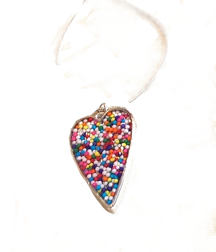 Candy Sprinkles Heart Pendant