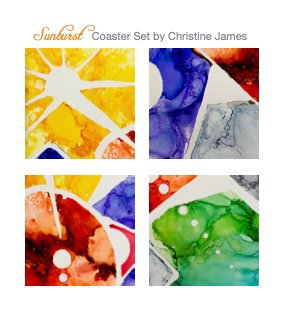 """Sunburst"" Coaster Set"