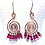 Thumbnail: Magenta & Swirls Earrings