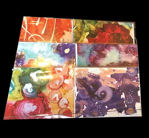 Alcohol Ink Painting Printed Notecard Set - by C. James