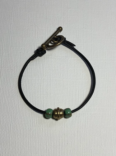 Leather Toggle Bracelets