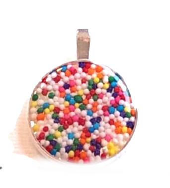 Sprinkles Circle Pendant Necklace