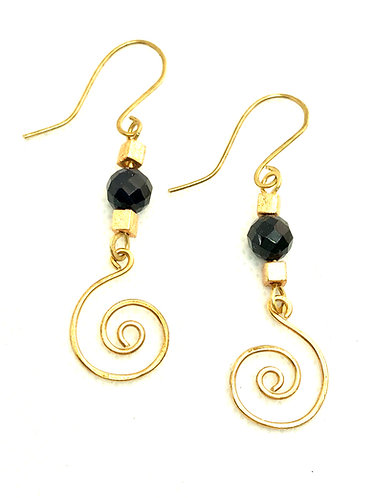 Brass & Black Swirls