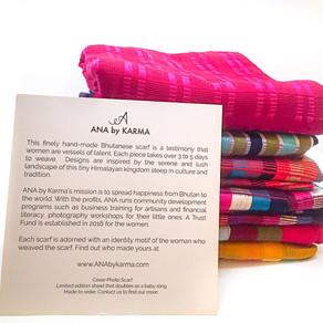 Hand-made Bhutanese scarf to empower women in Bhutan!