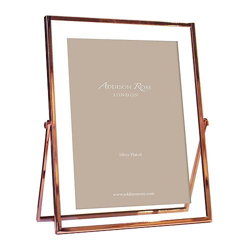 "Addison Rose - Rose Gold & Glass Photo Frame - 5x7"""