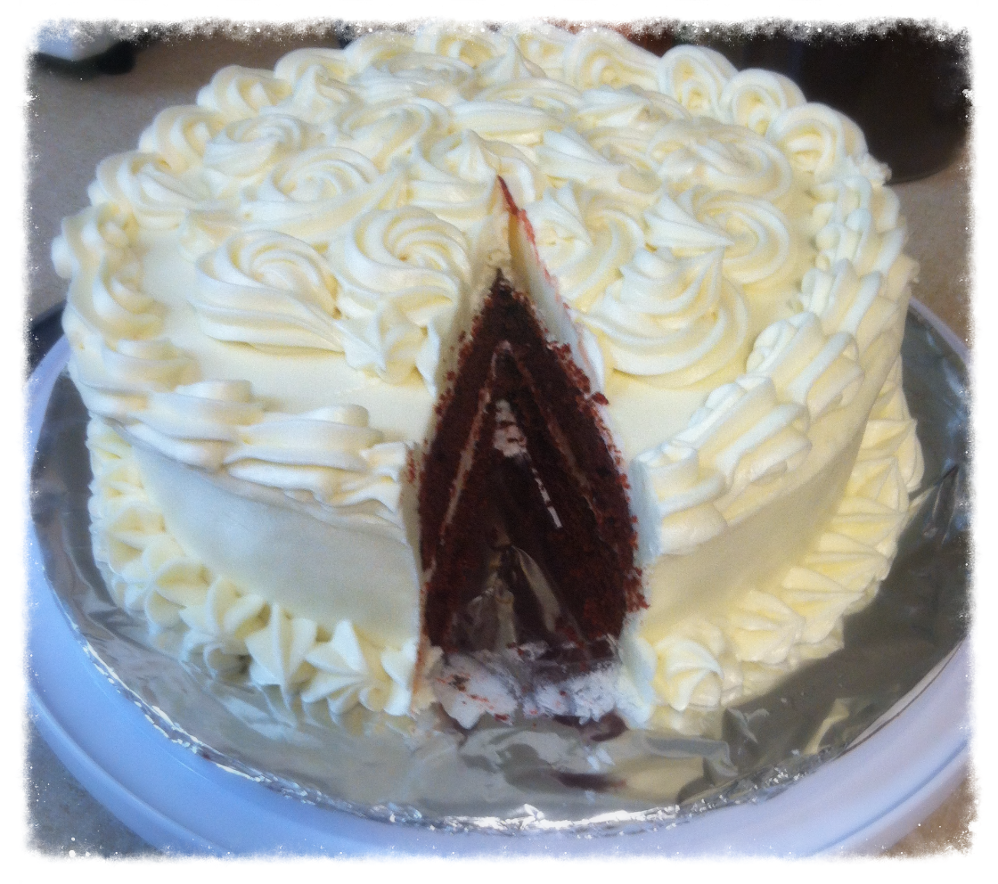 Red Velvet Cake with Cream Cheese Bu