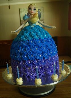 Elsa Doll Birthday Cake