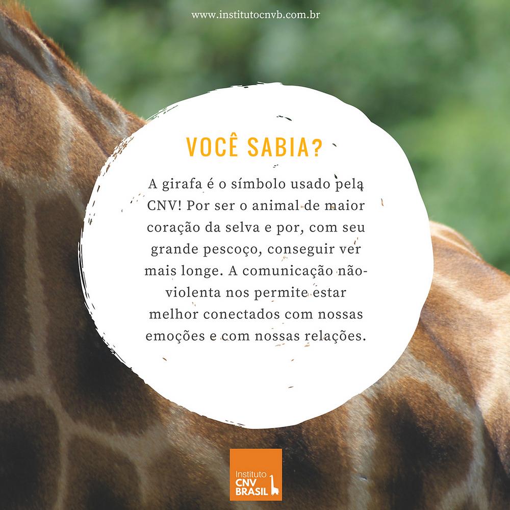 A girafa é o símbolo usado pela CNV!