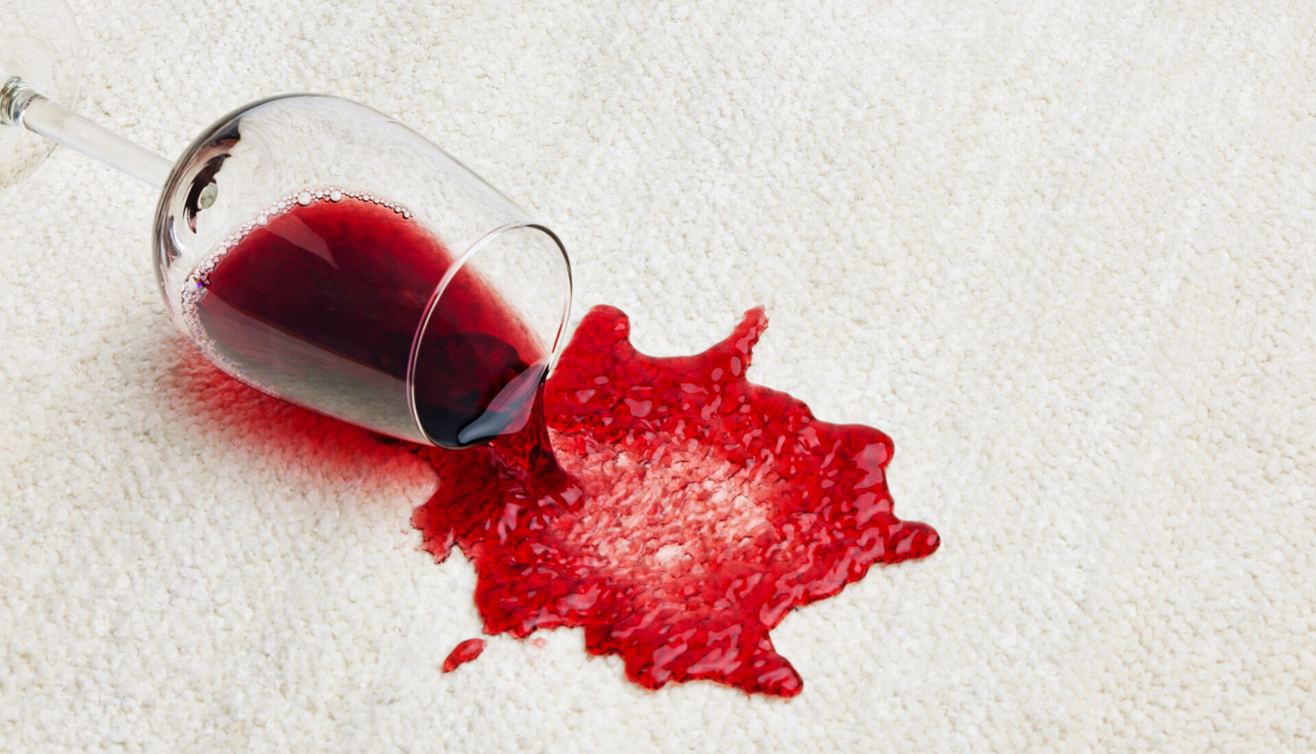 We Offer Wine Stain Removal