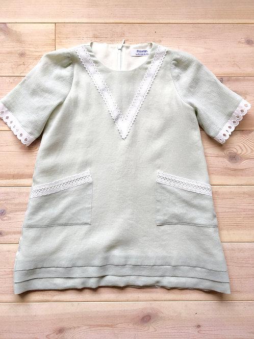 <Flourish>Kids Mint-green Lace Dress
