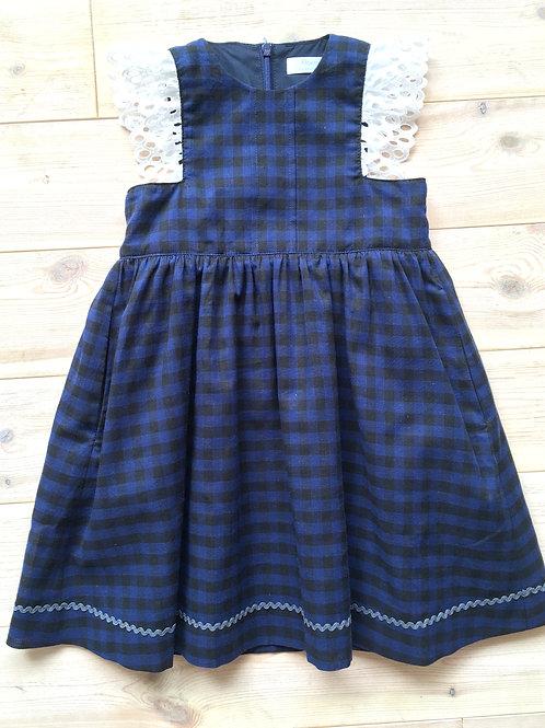 <Flourish>Kids Apron Dress with dark check