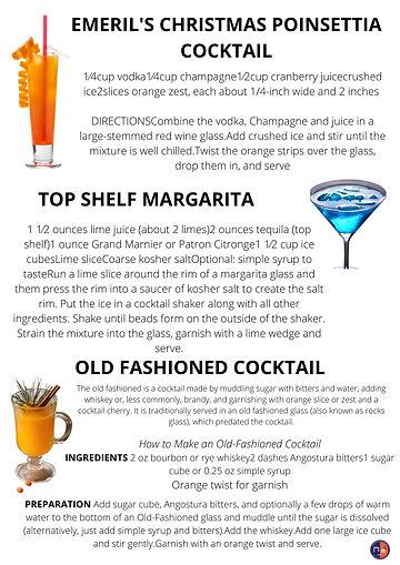 HoliDAY Signature Drink Recipes