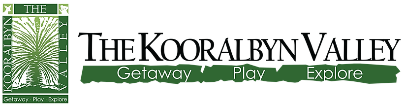 The Kooralbyn Valley logo complete white