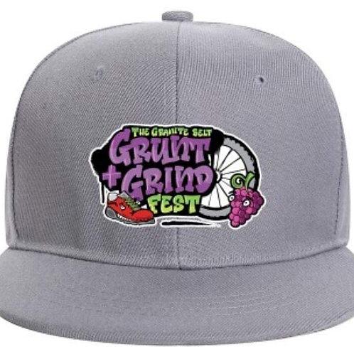The Grunt & Grind Fest Logo Flat Peak Hat