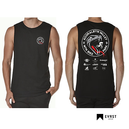 Kooralbyn Valley MTN Bike Park Logo Muscle T-Shirt