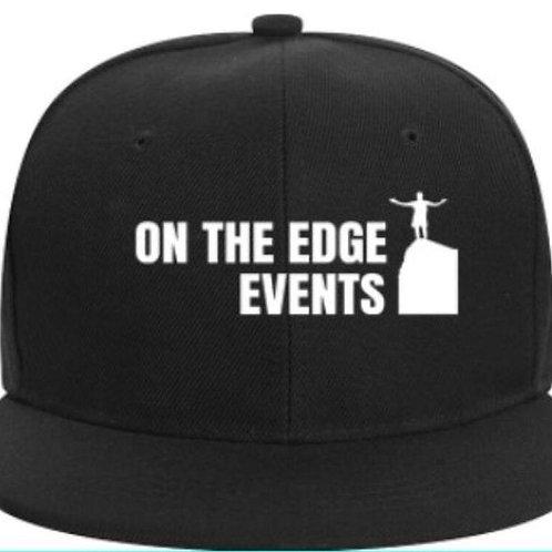 On The Edge Events Brand Logo Flat Peak Hat