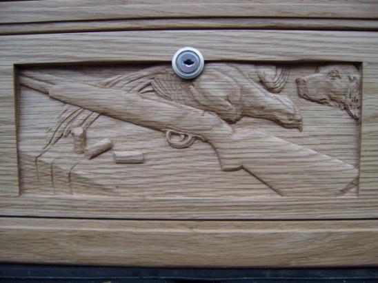 hand carved scene