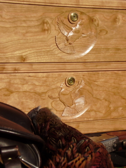 Hand carved drawer fronts