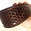Thumbnail: Hand tooled basket weeve leather collar