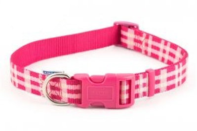 Candy Pink Check Collar