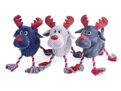 Plush Dog Toy - Reindeer Rope Legs