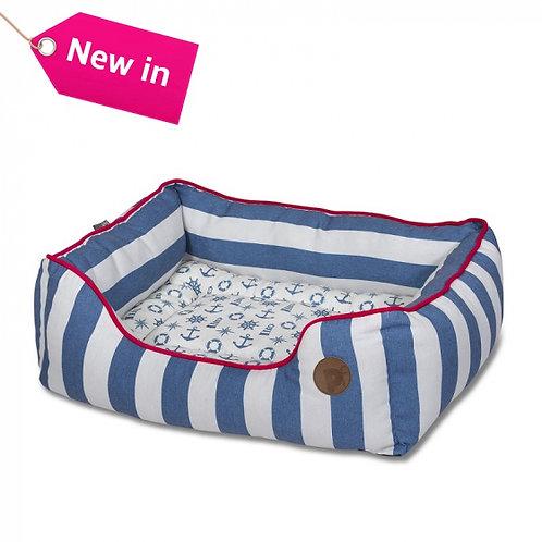 Nautical Stripe Square Bed