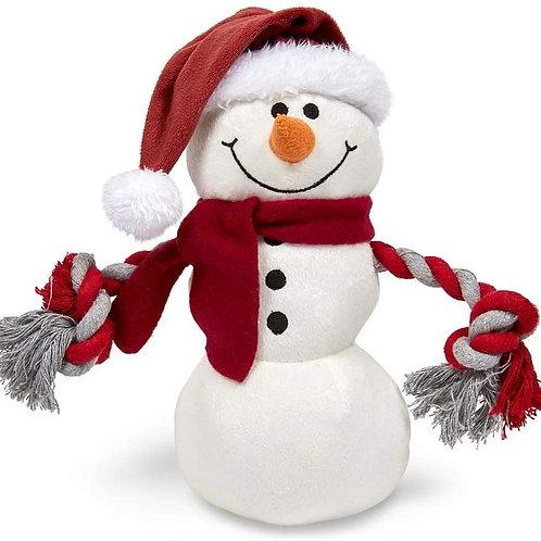 Plush Dog Toy - Snowman