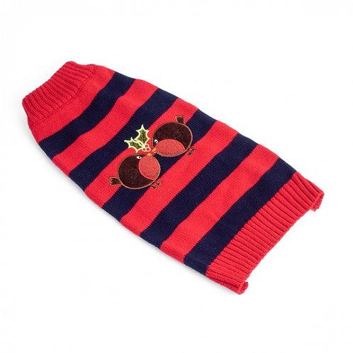 Xmas Robin Dog Sweater (Medium 35cm)