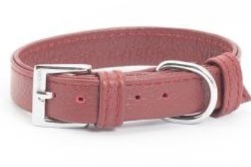 Ancol  Folded Collar Leather - (Mid Red)
