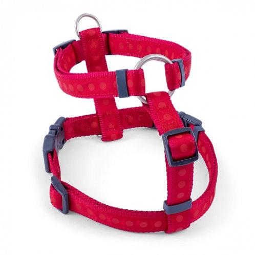 Red Tonal Dots Dog Harness