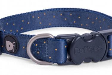 Ochre Ditsy Spot Dog Collar
