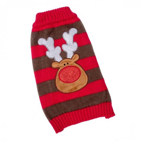 Xmas Dog Sweater Reindeer (Medium 35cm)