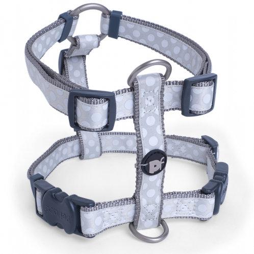 Light Grey Tonal Dots Dog Harness