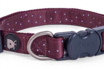 Ox Blood Ditsy Spot Dog Collar