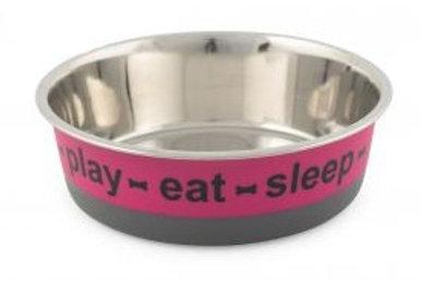 Eat, Sleep, Play Food Bowl - 21cm