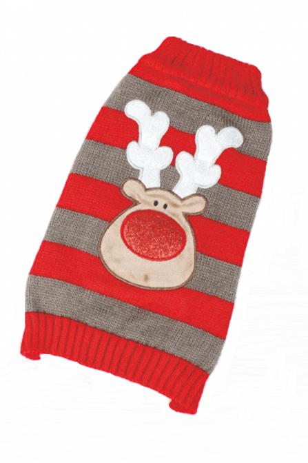 Xmas Dog Sweater Reindeer (Small 30cm)