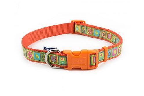 Orange Squares Collar (45-70cm)