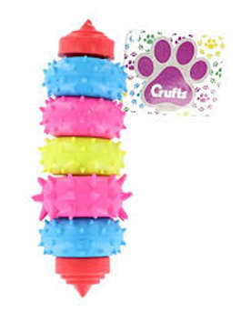 Crufts Dog Swivel 7 Ring Dental Rubber Teething Toy