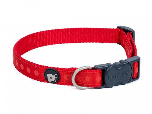Red Tonal Dots Dog Collar