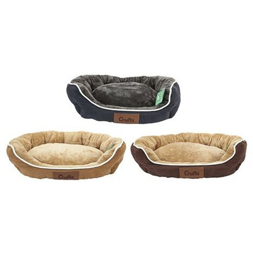 Crufts - Faux Suede/Fur Oval Bed