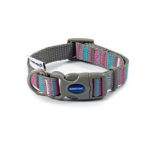 Pink Candy Stripe Collar