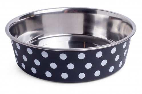 Deli Bowl - Black/White Spots