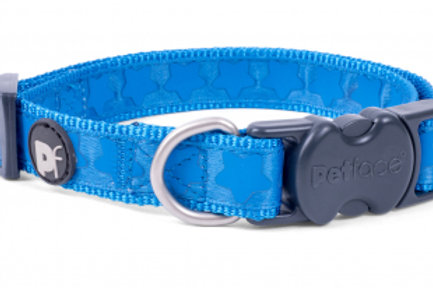 Blue Tonal Stars Dog Collar