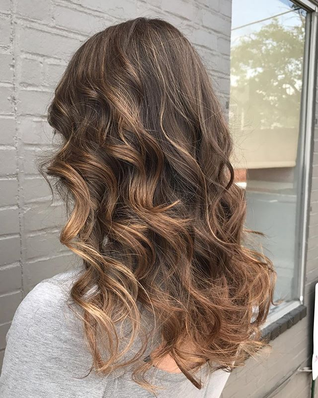 Becca killed this beautiful cool mocha #balayage today! #balayageartists #mochahair #bellezahairandn