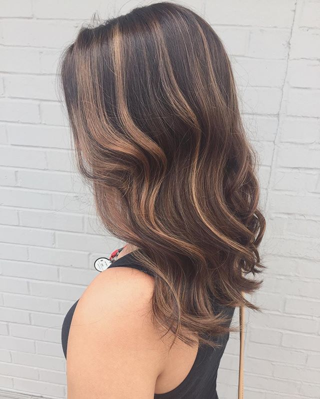 Amazing balayage done by our super talented stylist Becca!__Make sure to call and schedule for your