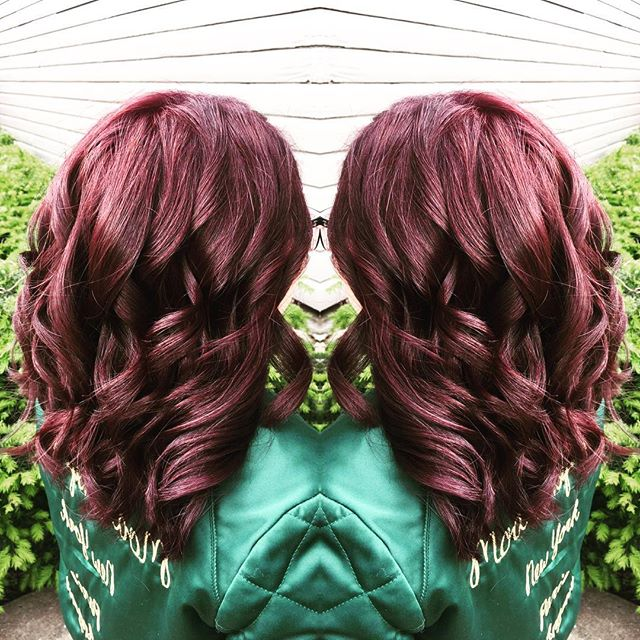 Red burgundy color done by our stylist Amy! 💆🏽