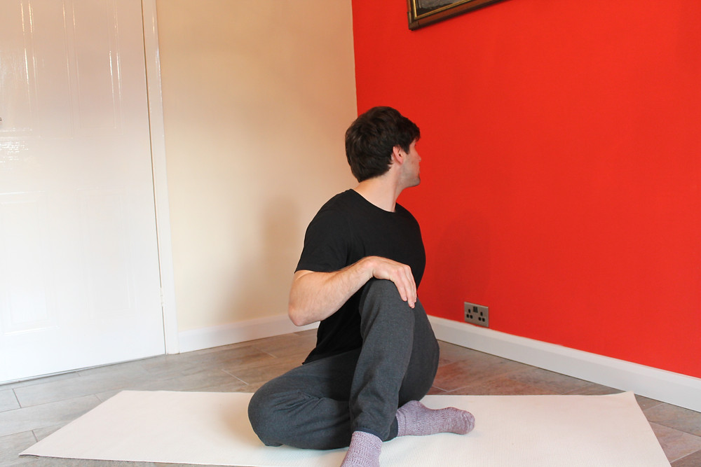 Seated Twist on a the floor
