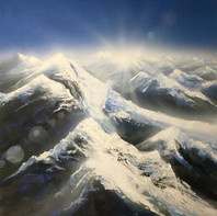 """above mountains 42"""" x 42"""""""