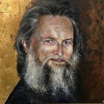"Portrait of  Charles Cousins. 20"" x 20"""